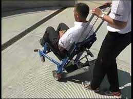Ferno Stair Chair Model 42 by How To Use Ferno Ezglide Power Traxx Stair Chair Youtube