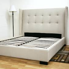 High King Size Bed Frame Tall Platform Twin Double With Storage