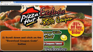 Pizza Hut Coupons: Get -85% Pizza Hut Coupons Codes [Working 2013]