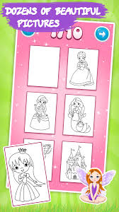 Kids Coloring Book Princess 156 Screenshot 2