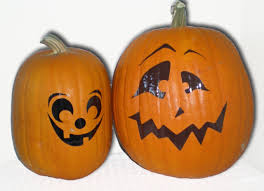 Cute Carved Pumpkins Faces by No Mess Pumpkins Pazzles Craft Room