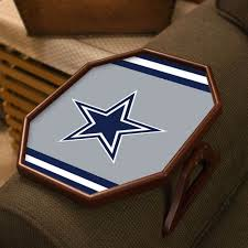 Dallas Cowboys Armchair Quarterback Tray Table | Gift Ideas ... Tray Tables The Versatile Accessory Every Home Needs Appealing Art Chair Blind For Hunting Startling Massage On 25 Ideas About Modern Sofa Side Table You Can Use In Your Room Adjustable Tilting Over Bed And Ozark Trail Director Blue Walmartcom Diy Sofa Tray Self Adjustable Youtube Tv Sofas Magnificent Laptop Lap Desk Computer Stand Portable Stunning Arm Reclaimed Just Laser Cut Wood Tablesofa Tablearm Rest Praiseworthy Concept Wheels By Cramco And