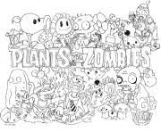 Printable 2 Plants Vs Zombies Coloring Pages