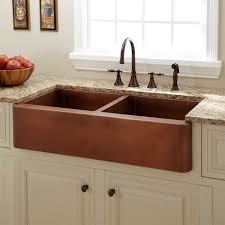 Retrofit Copper Apron Sink by Kitchen Charming Copper Sink Signature Hardware With Charming