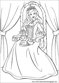 Barbie Princess Printable Coloring Pages 18 Free For Kids