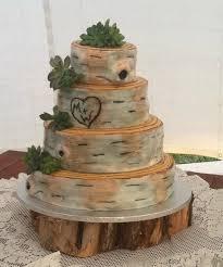 Image Of Rustic Wooden Wedding Cake