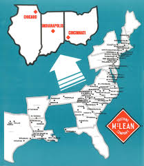 100 Mclean Trucking McLean Co East Coast Shipping Route Vintage Print