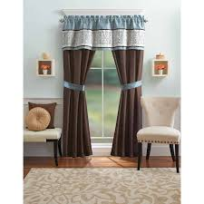 Blue Ombre Curtains Walmart by Better Homes And Gardens Blue Ombre Scroll 5 Piece Window Curtains