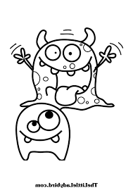 Monster Coloring Sheet Pages Kids