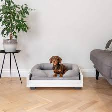 omlet memory foam polsterbett für hunde small grün