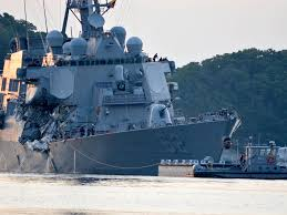 Uss America Sinking Photos by Us Navy Crash 10 Sailors Missing After Destroyer Uss John Mccain