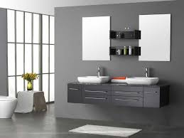 Unfinished Bathroom Cabinets And Vanities by Double Bathroom Floating Vanity With White Ceramic Sink And Wood