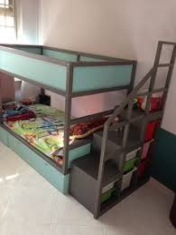 Loft Bed With Slide Ikea by Ikea Kura Bed Hack Trofast Stairs Bunk Bed Diy Projects