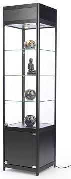 72 glass display cabinet with 3 adjustable