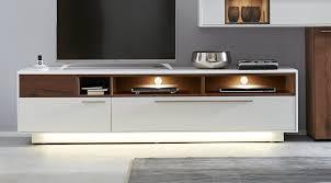 interliving wohnzimmer serie 2102 medienboard 510203 mit beleuchtung dunkles asteiche furnier weißer mattlack breite