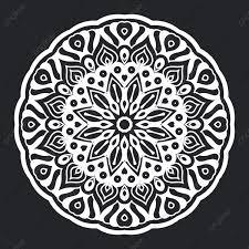 Mandala Patrón Blanco Y Negro Ornamento Para El Diseño Del