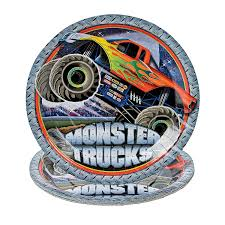 Monster Trucks Dinner Plates - OrientalTrading.com | Kiddos ... Monster Jam Birthday Party Supplies Impresionante 40 New 3d Beverage Napkins 20 Count Mr Vs 3rd Truck Part Ii The Fun And Cake Blaze Invitations Inspirational Homemade Luxury Birthdayexpress Dinner Plate 24 Encantador Kenny S Decorations Fully Assembled Mini Stickers Theme Ideas Trucks Car Balloons Bouquet 5pcs Kids 9 Oz Paper Cups 8 Top Popular 72076