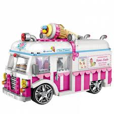 100 Toy Ice Cream Truck Senarai Harga Loz Mini Blocks Van Building Bricks