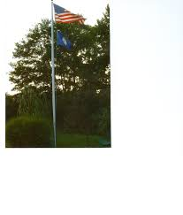 100 Flag Pole For Truck 25 Hurricane Ready Tapered Silver Aluminum Double Halyard