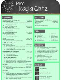 Pleasant Good Teacher Resumes Samples Also My Design For An Elementary Resume The Template