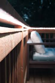 Add Outdoor Rope Lights to Deck Railing The Handyman s Daughter