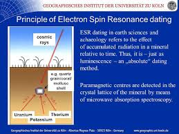 principle of electron spin resonance dating esr dating in earth