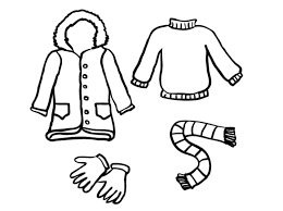 Coloring Pages Winter Clothes Page SaveEnlarge
