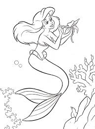 New Disney Ariel Coloring Pages 27 With Additional Picture Page