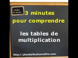 comment apprendre table de multiplication 3 minutes pour comprendre les tables de multiplication