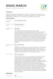 Senior Web Developer Resume Samples