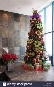 100 River House Decor Christmas And Hanukkah Decorations Lobby Of