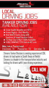 Local Tanker Driving Jobs With Stevens Transport - Become A ... Salazar Service Oilfield Driving Jobs 10 Incredible Facts Web Marketing Sucess With Midessa Tech Driver Jobs In Midland Blake Reid Brady Trucking Field Codinator Youtube Services Killdeer Reliance Hshot Trucking Pros Cons Of The Smalltruck Niche Ordrive Eagle Ford Shale In South Texas Job Outlook 6figure Oil Lead To Massive Shortage Home Builders Oct Truck Driver Wikipedia