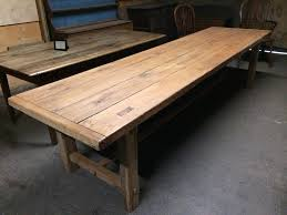 Very Long Antique Oak Table With Benches Has Just Arrived