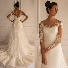 Shop Discount Chic Lace Appliques Court Train Mermaid Tulle Wedding Dress WDWD2857