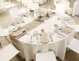 Burlap Hessian Table Runner Setting For Wedding