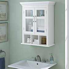 WYNDENHALL Hayes Two Door Bathroom Wall Cabinet with Cubbies in