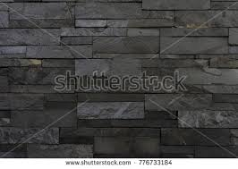 Stone Cladding Wall Texture Carbon Black