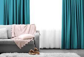 lifa living 1x blickdichter vorhang mit ösen in blau 250 x 150 cm verdunkelungsvorhang mit ringen in aquablau vorhang für schlafzimmer wohnzimmer
