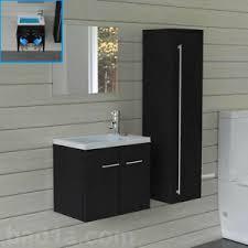 huis waschbeckenunterschrank mit spiegel schwarz badmöbel