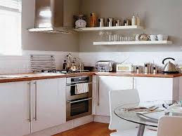 Kitchen Storage Ideas with Wall Shelves and Dining Table Kitchen