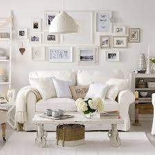 Living RoomPretty Shabby Chic Dining Room With Retro Wall Decor And White Iron Chandelier