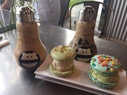 milk tea with grass jello and boba in glass light bulbs
