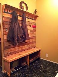 Pallet Coat And Shoe Rack