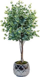 maia shop 1245 eukalyptus mit natürlichen stämmen ideal für die inneneinrichtung baum künstliche pflanze 105 cm eucalyptus