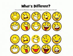 Free Printable Emotion Smiley Faces Coloring Page 27379