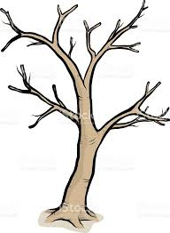 A drawing of a tree with bare branches royalty free a drawing of a tree