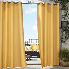 Brylane Home Grommet Curtains by Gazebo Bright Solid Color Indoor Outdoor Curtain Panels