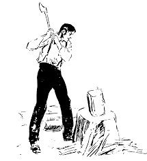 Man Chopping Wood Clipart