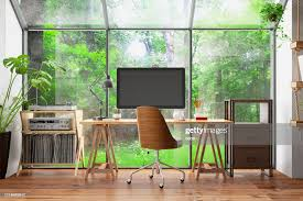 Home Interior Work Work At Home Concept Home Office Interior With Computer