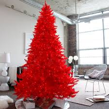 Slimline Christmas Trees 7ft by Red Ashley Pre Lit Christmas Tree By Sterling Tree Company Hayneedle